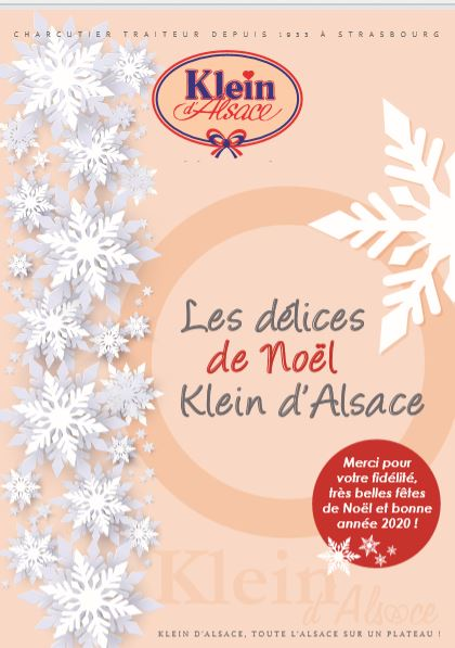 Carte traiteur de Noël 2019